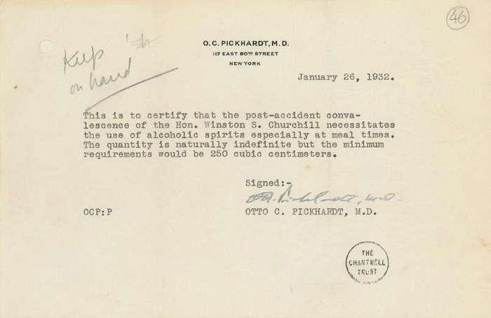 Уинстон Черчилль и алкоголь