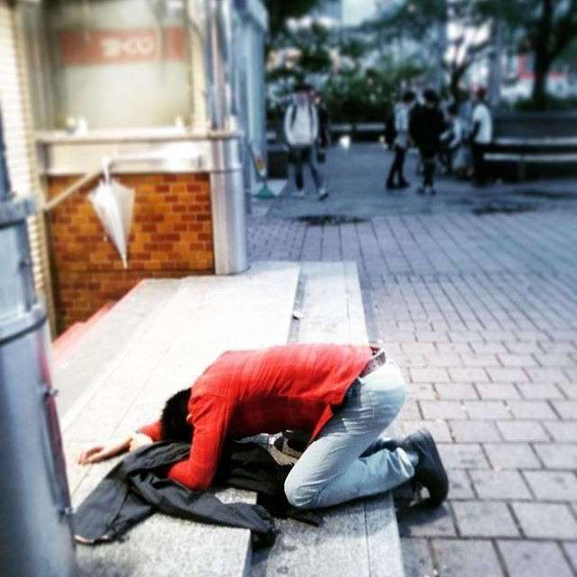 Япона мама: зверски пьяные японцы района Сибуя