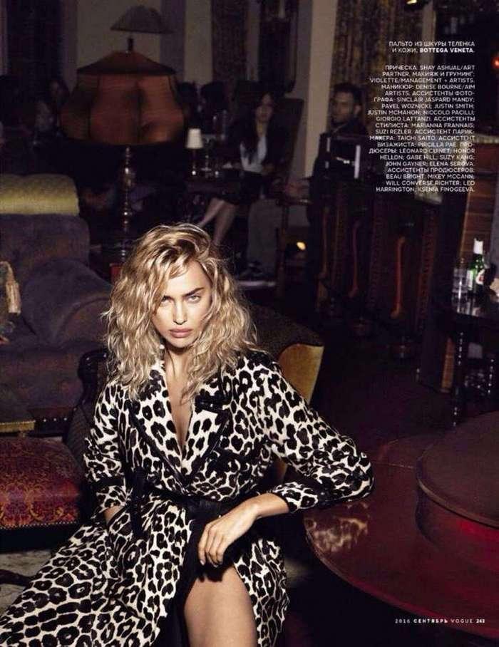 Ирина Шейк стала блондинкой для Vogue Russia (September 2016)