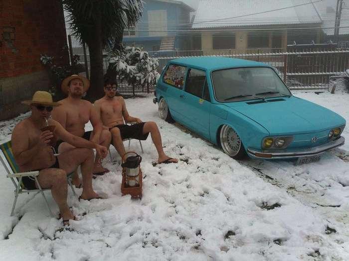 Привычная нам зима в непривычных местах