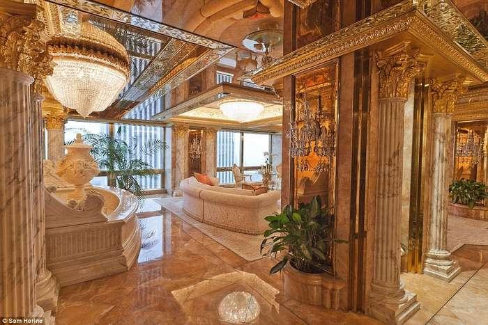 Дар Мидаса: внутри $ 100-миллионного пентхауса Трампа на 5-й Авеню много интересного (и золотого)