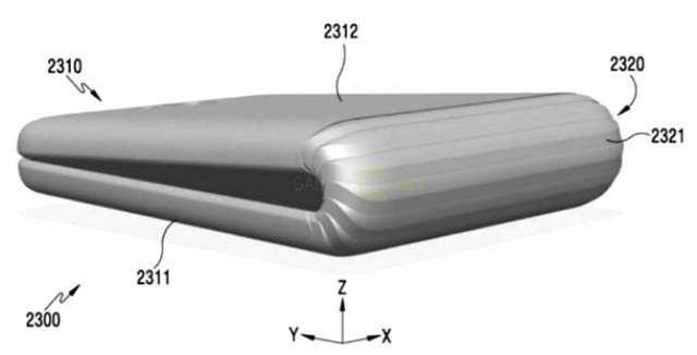 Samsung запатентовала складывающийся смартфон с гибким экраном