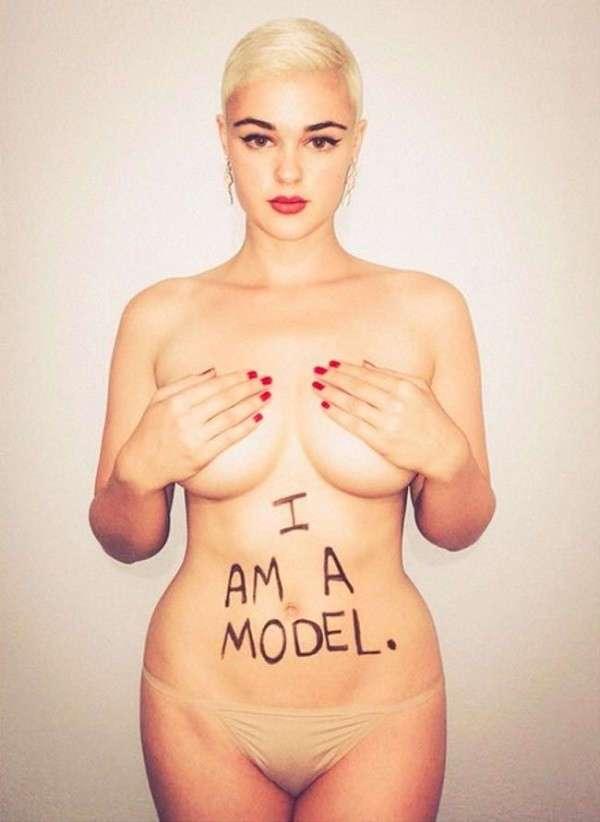 Она в пух и прах разрушает стереотипы модельного бизнеса! Только взгляни на эти аппетитные формы