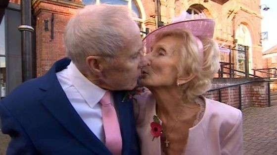 Влюбленные поженились 65 лет спустя
