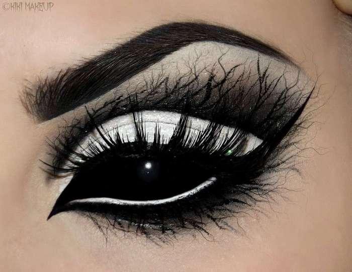 12 идей потрясающего макияжа глаз на Хэллоуин