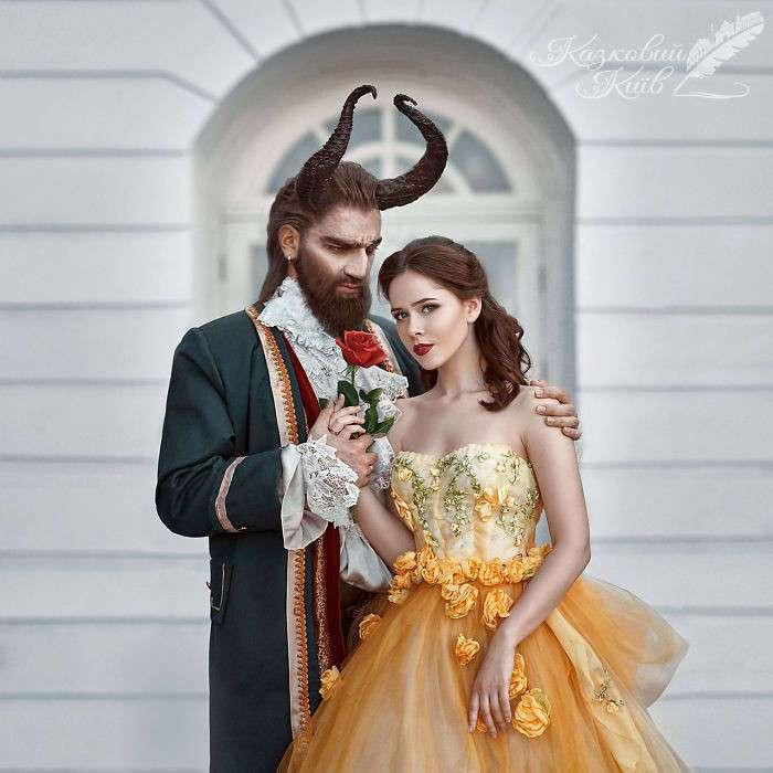Ожившие сказочные персонажи в фотопроекте