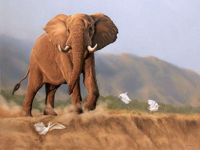 Гиперреалистичные картины животных художника Леона Фуше