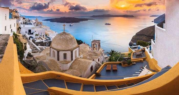 Волшебный греческий остров Санторини