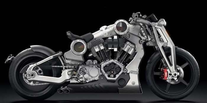 Брутальный алюминиевый байк-монстр с прозрачными деталями корпуса
