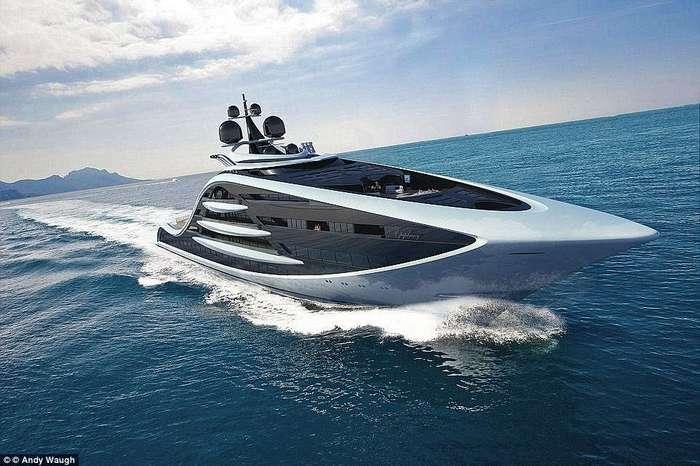 Самое дорогое судно в мире: британский дизайнер представил проект суперяхты стоимостью ?500 млн.
