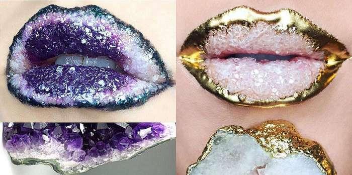 Жеода-липарт: Новый тренд с кристальными губами завоевывает Instagram