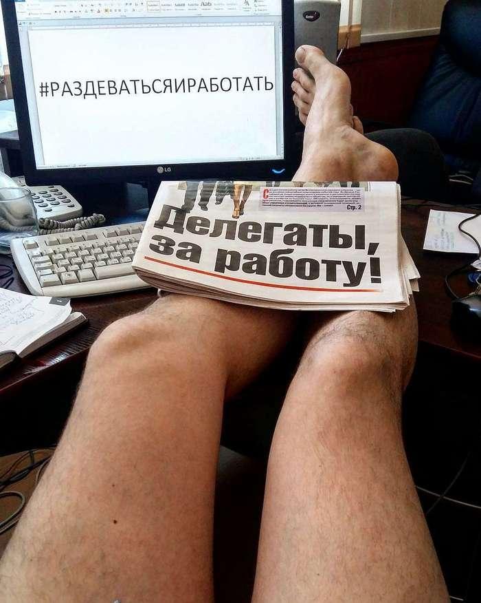 Исполняя наказ Лукашенко, белорусы массово побежали раздеваться и работать