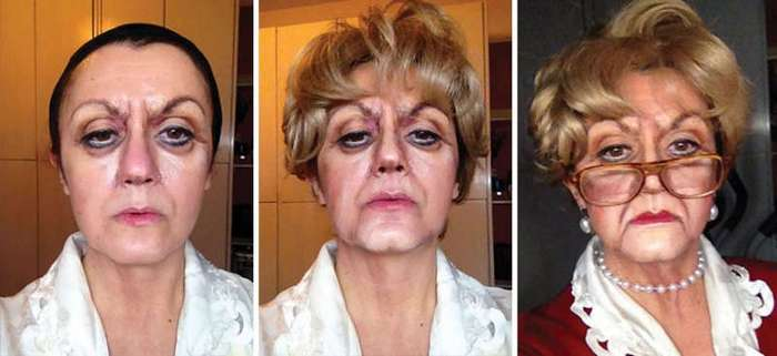 Итальянка превращает себя в разных знаменитостей с помощью макияжа
