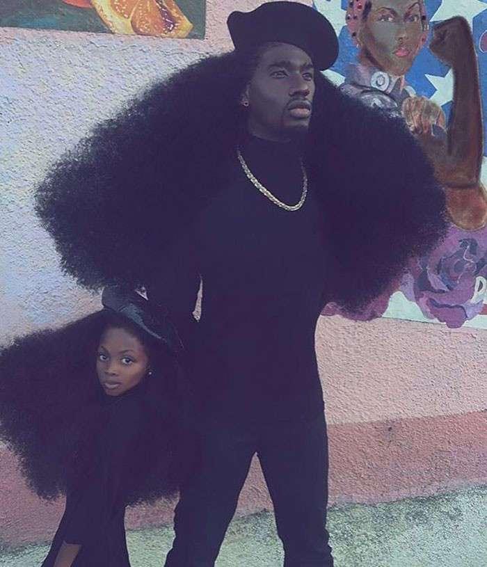 Отец и дочь, чьи прически свели с ума весь мир