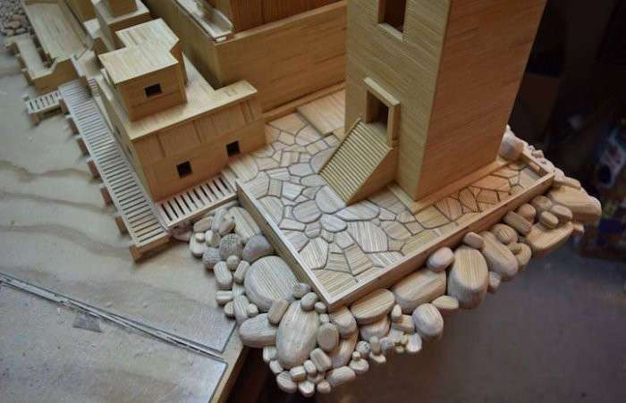 Архитектурные фантазии из 300 тысяч зубочисток
