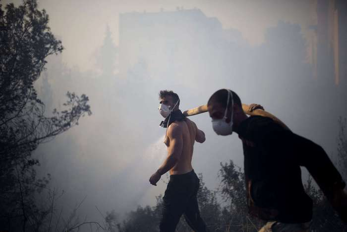 Яростные пожары в Израиле.