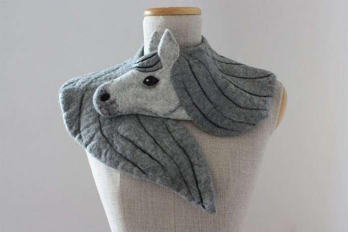 Потрясающий дизайн шарфов из войлока (котики, птицы и зайчата не пострадали)