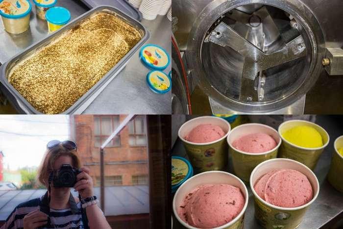 Как делают необычное мороженое, или в царстве деда Мороза