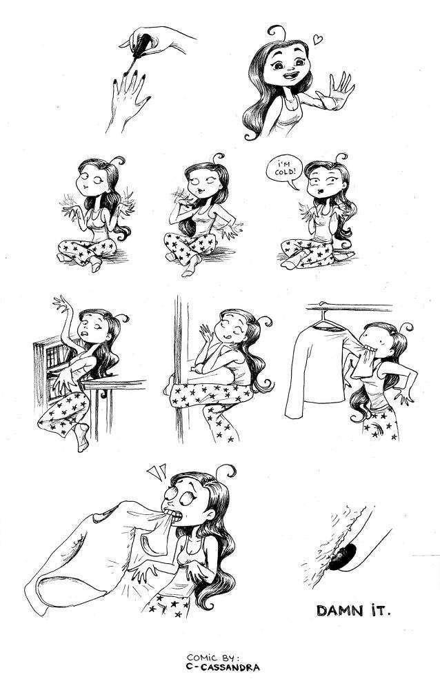 Тяжкая женская доля в веселых картинках