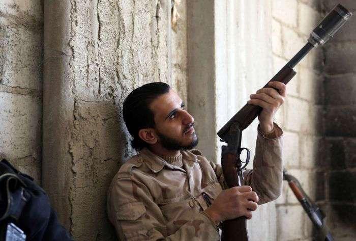 Оружие сирийских бармалеев. Деградируют, однако