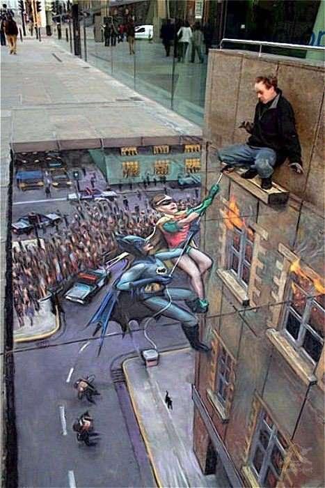 Уличный 3D арт