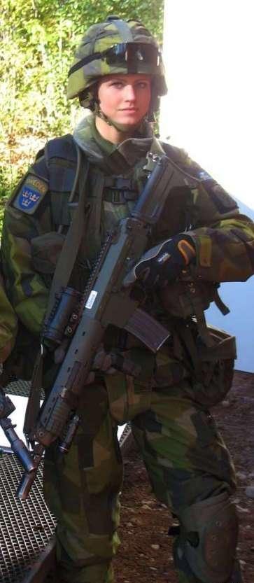 Принцесса Швеции в армии
