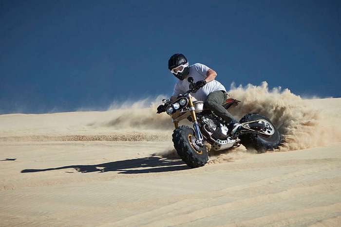 Кастом кроссового мотоцикла Honda XR650L