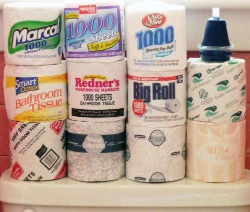 И с туалетной бумагой у нас всё не как у всех !