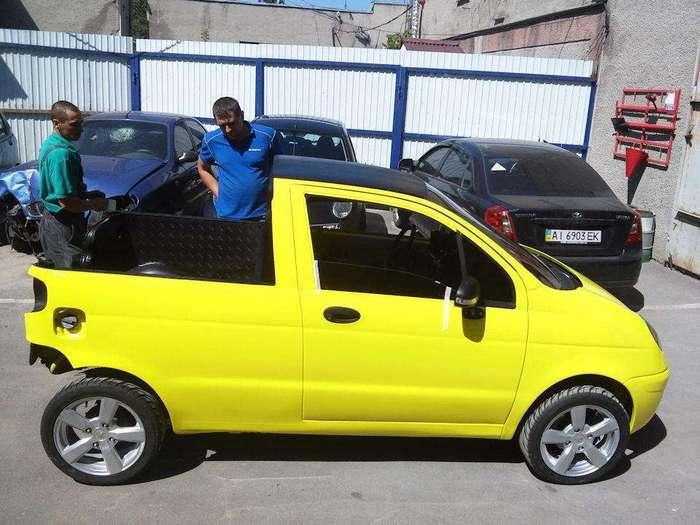 Самодельный пикап из Daewoo Matiz