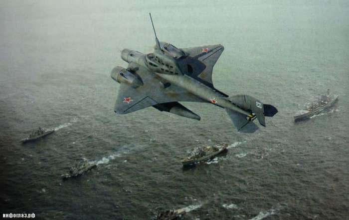 Летающая субмарина. Проект ЛПЛ Ушакова