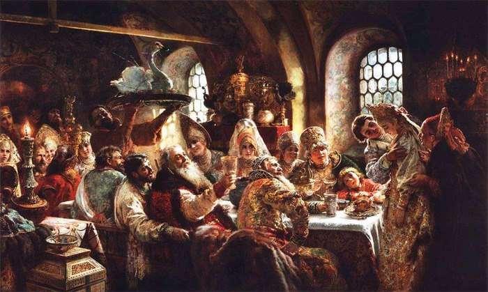 Этикет и меню пиров знати в допетровской Руси
