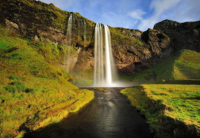 Самый живописный норвежский водопад Сельяландсфосс