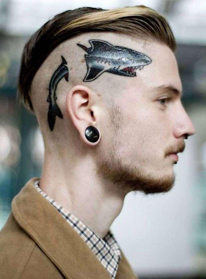 40 сумасшедших татуировок на голове