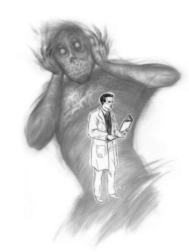 Рисунки людей, страдающих шизофренией