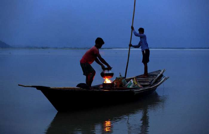 Кадры повседневной жизни людей в Индии