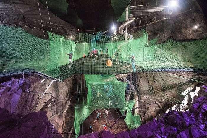 Самый безумный в Европе батутный парк