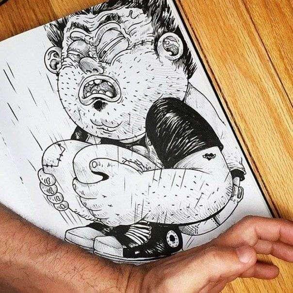 Иллюстратор, который дерется со своими созданиями