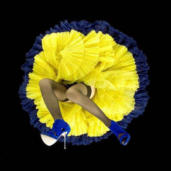 Пышная юбка + красивые ноги = необычные цветы