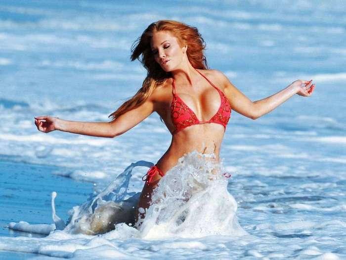 Анжелика Бриджес в рекламной фотосессии