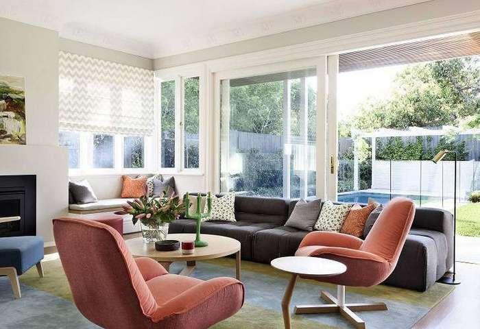 Великолепный дом с витражными окнами в Австралии