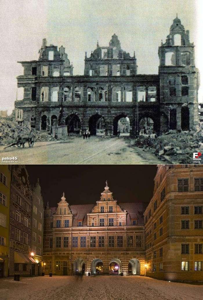 Как удалось восстановить Гданьск, разрушенный на 90% во время Второй мировой войны
