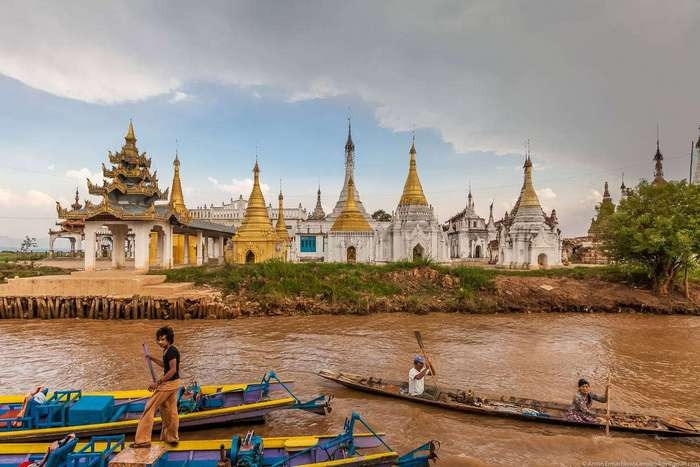 Как в Мьянме выращивают овощи на озерах
