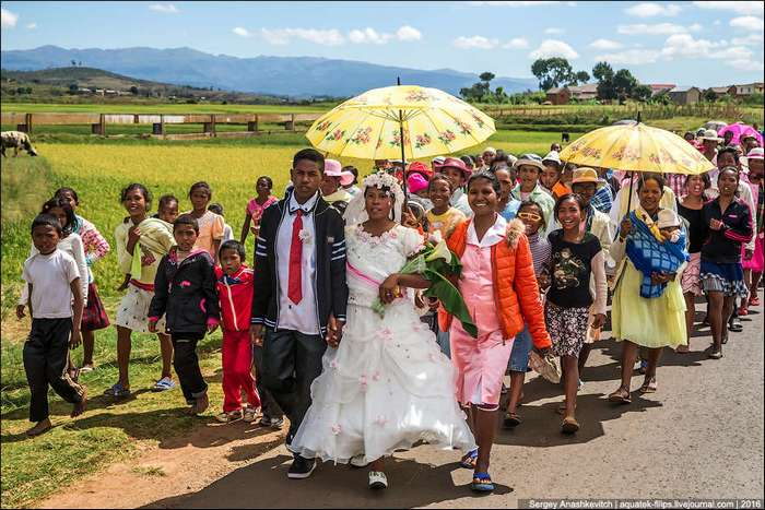 Как выглядит деревенская африканская свадьба