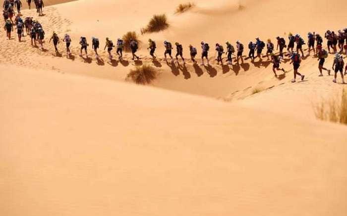 Марафон Marathon des Sables в пустыне Сахара: сложнейшая гонка на выносливость