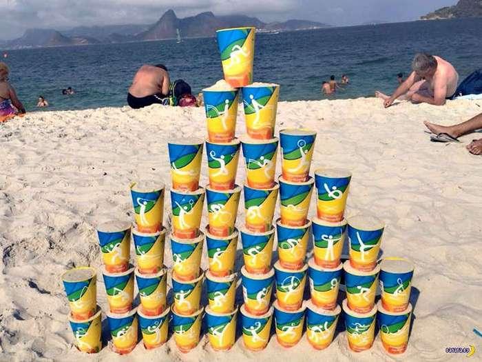 Олимпийский бизнес на пивных стаканах