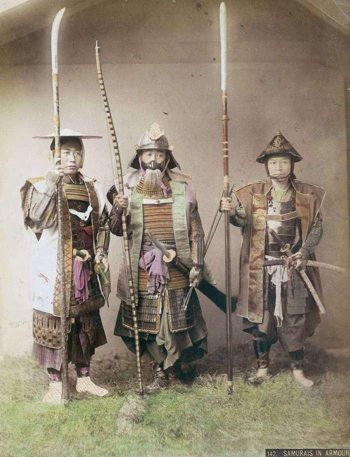 Редкие цветные фотографии самураев