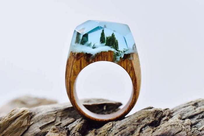 Снежные пейзажи в украшениях на пальце