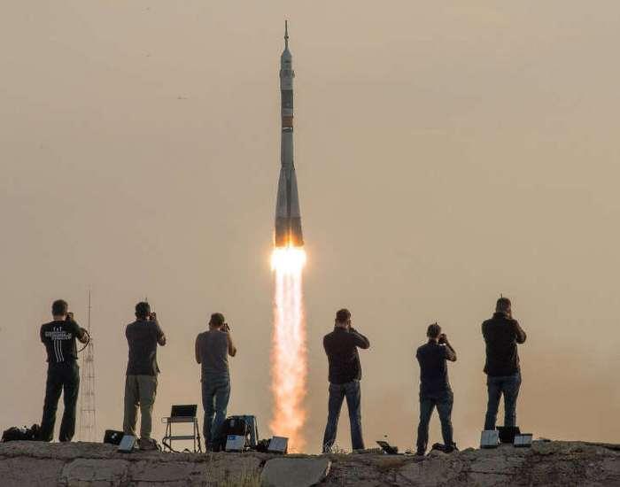 Старт космического корабля «Союз МС»