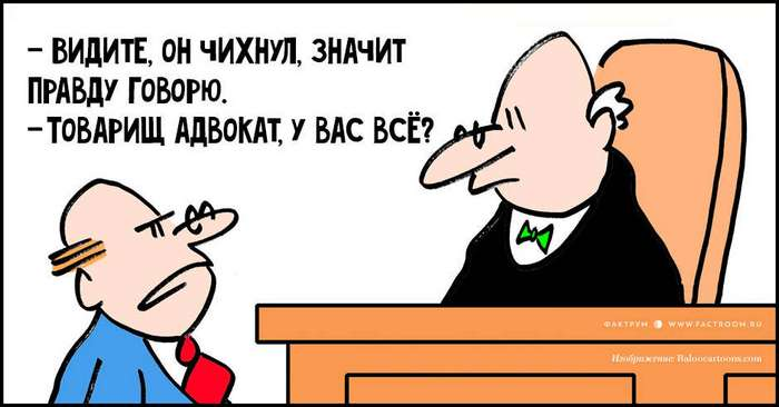 Существует два типа адвокатов: те, кто знают закон, и те, кто знают судью. 15 анекдотов про адвокатов!