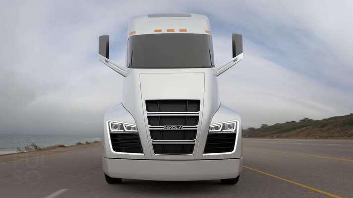 Tesla среди грузовиков: гибридный электрический тягач Nicola One